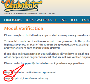 How to get verified on chaturbate